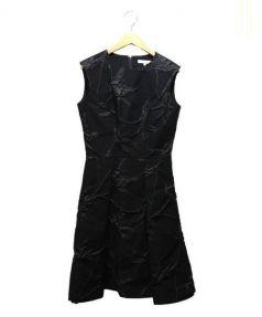 EPOCA(エポカ)の古着「フラワーラメジャガードドレス」|ブラウン