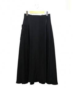 Yohji Yamamoto(ヨウジヤマモト)の古着「立体ミディスカート」|ブラック