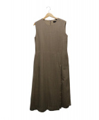 Demi-Luxe BEAMS(デミルクス ビームス)の古着「リングストライプワンピース」 ベージュ