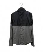 SHELLAC(シェラック)の古着「2トーンシャツ」 グレー