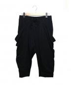 SHELLAC(シェラック)の古着「ハイテンションポンチボリュームデザインパンツ」 ブラック