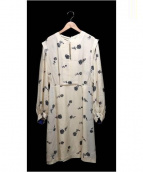 tsumori chisato DRESS(ツモリチサトドレス)の古着「リボンバラプリントワンピース」|ベージュ