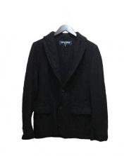 COMME des GARCONS HOMME(コムデギャルソンオム)の古着「ウール縮絨テーラードジャケット」 ブラック