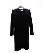 noir kei ninomiya(ノワール ケイ ニノミヤ)の古着「ベロアワンピース」|ブラック