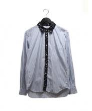 COMME des GARCONS HOMME DEUX(コムデギャルソンオムデュー)の古着「パイピングシャツ」|ブルー