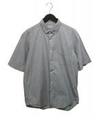 Scye(サイ)の古着「先染めS/Sストライプシャツ」
