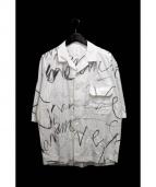 Name.(ネイム)の古着「プリントオープンカラーシャツ」|ホワイト