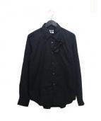BLACK COMME des GARCONS(ブラックコムデギャルソン)の古着「蝶ネクタイデザインシャツ」 ブラック
