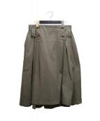 Y's(ワイズ)の古着「サイドギャザーデザインマキシスカート」 カーキ