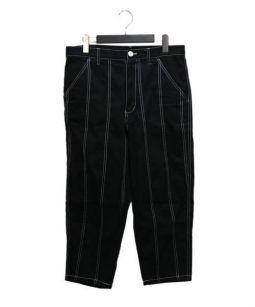COMME des GARCONS SHIRT(コムデギャルソンシャツ)の古着「ステッチデザインクロップドパンツ」 ブラック