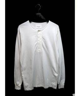 LEMAIRE(ルメール)の古着「ワイドヘンリーネックカットソー」|ホワイト