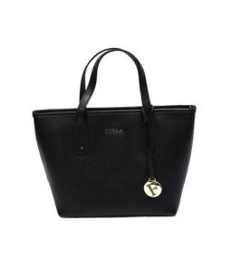 FURLA(フルラ)の古着「サフィアーノハンドバッグ」|ブラック