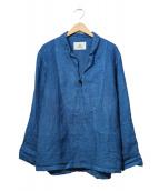 OUTIL(ウティ)の古着「スキッパーリネンシャツ」|ネイビー