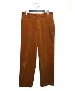 AURALEE(オーラリー)の古着「WASHED CORDUROY SLACKS」|ブラウン