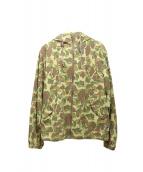 Lafayette(ラファイエット)の古着「カモ柄フーデッドジャケット」 オリーブ