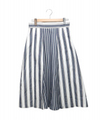 AMACA(アマカ)の古着「マルチストライプロングスカート」