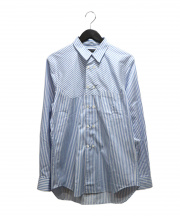 COMME des GARCONS HommePlus(コムデギャルソンオムプリュス)の古着「ストライプシャツ」|ブルー×ホワイト