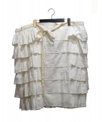 tricot COMME des GARCONS(トリココムデギャルソン)の古着「デザインスカート」 ホワイト
