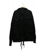 VINTI ANDREWS(ヴィンティアンドリュース)の古着「再構築モッズコート」 ブラック
