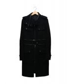 BCBG MAX AZRIA(ビーシービージー マックス アズリア)の古着「メルトンコート」|ブラック