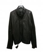 JULIUS(ユリウス)の古着「プロテクションライダースジャケット」|ブラック