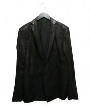 JULIUS(ユリウス)の古着「ラムレザーテーラードジャケット」|ブラック