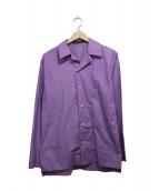 SOFIE DHOORE(ソフィードール)の古着「オープンカラーシャツ」|パープル