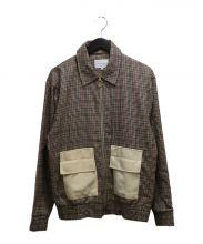DROLE DE MONSIEUR(ドロールドムッシュ)の古着「リングジップチェックブルゾン」|ベージュ