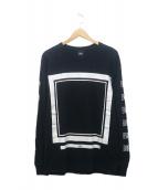 ELVIRA(エルビラ)の古着「プリントカットソー」|ブラック