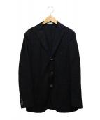 BOGLIOLI(ボリオリ)の古着「チェックジャケット」|ブラウン×ネイビー