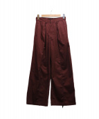 G.V.G.V.(ジーブイジーブイ)の古着「COTTON TWILL LACE UP TROUSERS」|ボルドー