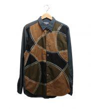 COMME des GARCONS HOMME(コムデギャルソンオム)の古着「デザインシャツ」|グレー×ブラウン