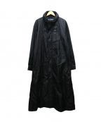 ISSEY MIYAKE WHITE LABEL(イッセイミヤケホワイトレーベル)の古着「ナイロンロングコート」 ブラック