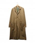 MAGIC STICK(マジックスティック)の古着「RAW EDGED CHESTER COAT」|ベージュ