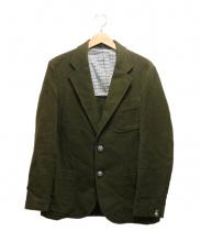The Stylist Japan(ザスタイリストジャパン)の古着「モールスキンセットアップスーツ」|カーキ