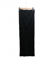 PLEATS PLEASE(プリーツ プリーズ)の古着「フロントジッププリーツマキシスカート」|ブラック