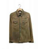 cotemer(コートメール)の古着「ブリーチ加工デニムウエスタンシャツ」