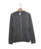 S.N.S. HERNING(エスエヌエスハーニング)の古着「ニットジャケット」|グレー