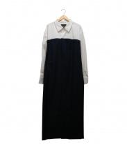 ERIKA CAVALLINI semi-couture(エリカ カヴァリーニセミクチュール)の古着「ドッキングロングワンピース」