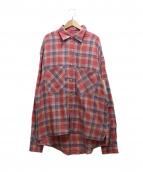 MR.COMPLETELY(ミスターコンプリートリー)の古着「BIG シャツ」|ピンク