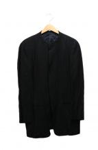 GIORGIO ARMANI(ジョルジオアルマーニ)の古着「ノーカラージャケット」 ブラック