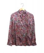 BINDA for LEILIAN(レリアン)の古着「シルクペイズリーシャツ」|パープル