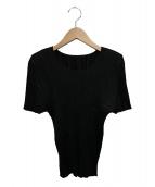 PLEATS PLEASE(プリーツ プリーズ)の古着「プリーツブラウス」|ブラック
