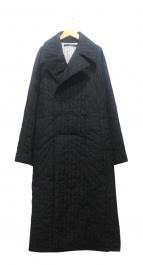 DRESSEDUNDRESSED(ドレスドアンドレスド)の古着「キルティングダブルコート」|ブラック