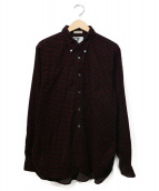 Engineered Garments(エンジニアードガーメンツ)の古着「コーデュロイシャツ」|ブラック×レッド