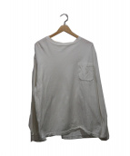 COMOLI(コモリ)の古着「裏毛起毛L/STシャツ」 ホワイト