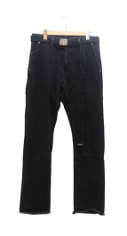 doublet(ダブレット)の古着「SILKDENIMWIDETROUSER」|ブラック