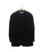 ISSEY MIYAKE MEN(イッセイ ミヤケ メン)の古着「シワ加工ウールスタンドカラージャケット」|ブラック