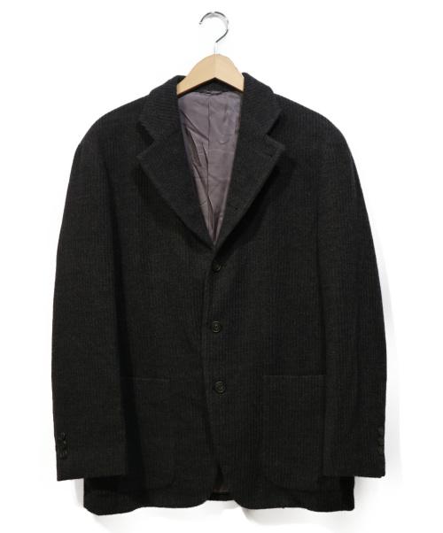 BARNEYS NEWYORK(バーニーズニューヨーク)BARNEYS NEWYORK (バーニーズニューヨーク) ラマウール3Bジャケット グレー サイズ:44の古着・服飾アイテム