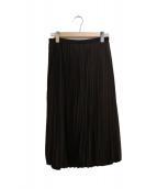 AMACA(アマカ)の古着「フェミニッシュサテンプリーツスカート」